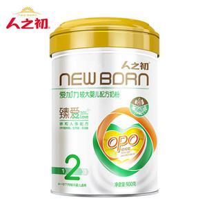 人之初爱加力较大婴儿配方奶粉2段6-12个月900g罐装
