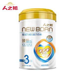 人之初爱加力婴幼儿配方奶粉宝宝12-36个月3段900g罐